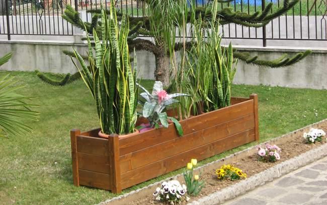 Fioriere in legno pave snc for Fioriere in legno obi