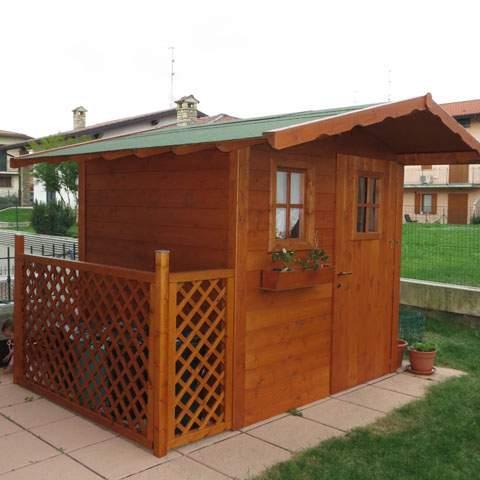 Casette in legno pave snc for Casetta in legno con portico