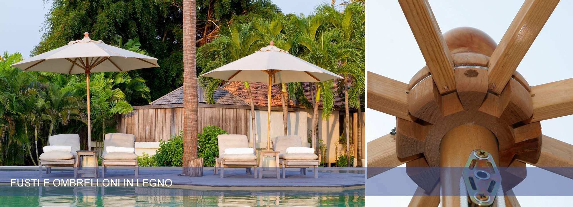 Ombrelloni e mobili da giardino in legno pave snc for Mobili da giardino in legno