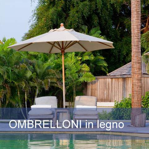 Ombrelloni e mobili da giardino in legno pave snc - Ombrelloni da giardino offerte ...