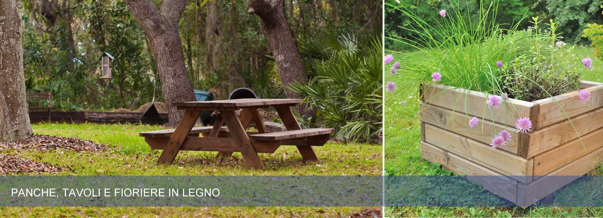 Ombrelloni e mobili da giardino in legno pave snc - Mobili da giardino in legno ...