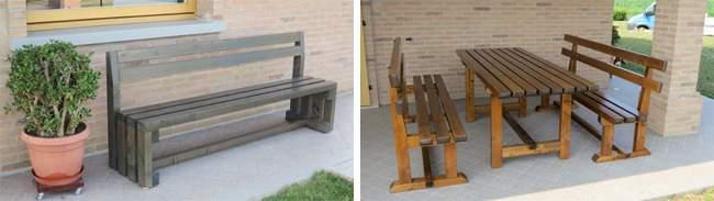 Mobili da giardino in legno pave snc for Mobili da giardino in legno